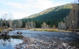 The confluence of Rock Creek and the Clark Fork