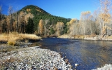 Lower Rock Creek near the confluence of the Clark Fork