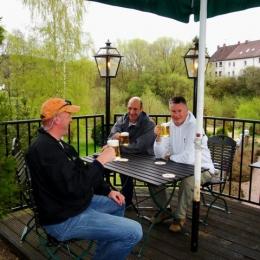 Kyll 2010, fishing with Martin Westbeek, Erik van Leur and Hans Frumau.